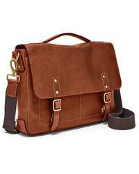 Fossil Defender Portfolio Brief Bag Mbg9345222 - Brown