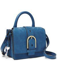 Fossil Wiley Top Handle Handbags Zb7962965 - Blue