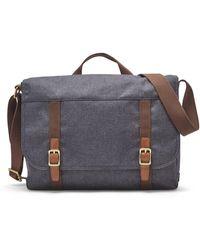 Fossil Renmore Messenger Bag Navy - Blue