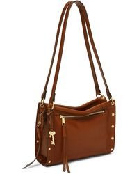 Fossil Allie Leather Satchel - Brown