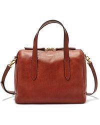 Fossil Sydney Satchel Handbags Shb1978210 - Brown