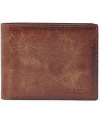Fossil - Derrick Rfid Flip Id Bifold Wallets Ml3681200 - Lyst