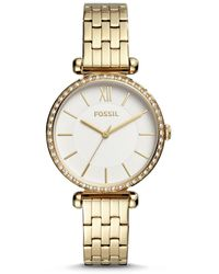 Fossil Tillie Three-hand Gold-tone Stainless Steel Watch - Metallic