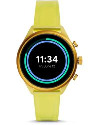 Fossil Sport 41mm Yellow Silicone Jewelry - Multicolor