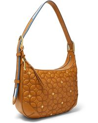 Fossil Hannah Hobo Handbags Multi - Brown