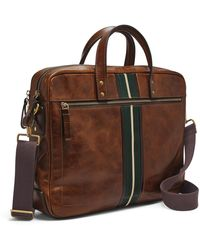 Fossil Haskell Double Zip Workbag Bag Mbg9456222 - Brown