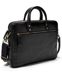 Fossil Haskell Top Zip Workbag Bag Mbg9377001 - Black