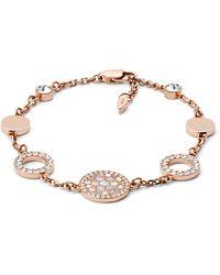 Fossil Bracelet disques -Rose Doré rose - Métallisé