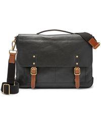 Fossil Defender Portfolio Brief Bag Mbg9345001 - Black