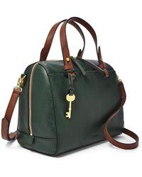 Fossil Rachel Satchel Handbags Spruce - Green