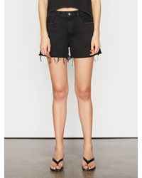 FRAME Le Simone Short Raw After - Black