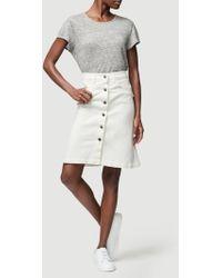 FRAME Vintage Boot Skirt - Natural