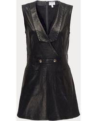 FRAME Leather Waistcoat Sweater - Black