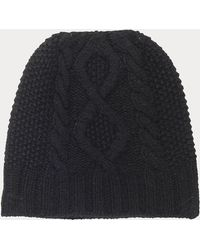 FRAME Cable Knit Beanie - Black