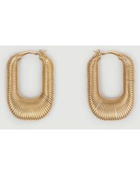 FRAME Mejuri Le Textured Hoops - Multicolour