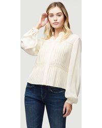 FRAME Silk Honeycomb Smocked Shirt - Multicolour