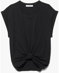 FRAME Knotted Rolled Tee - Black