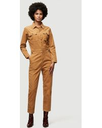 FRAME Caitlin Cord Coverall - Natural