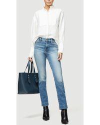 FRAME Clean Collared Tux Shirt - White