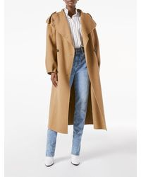 FRAME Double Breasted Wrap Coat - Natural