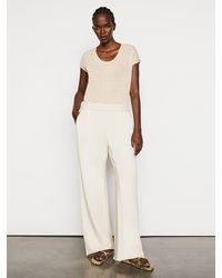 FRAME Wide Leg Sweatpant - Natural