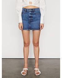 FRAME Le Mini Skirt - Blue