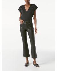 FRAME Le Crop Leather Mini Boot - Black