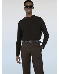 FRAME The Crew Neck Cashmere Sweater - Brown