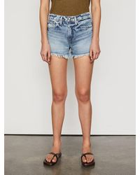 FRAME Le Simone Short Raw After - Blue