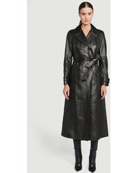 FRAME Leather Trench - Black