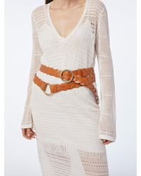 FRAME Braided O Ring Double Wrap Belt - Natural