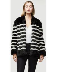 FRAME Faux Fur Jerry Coat - Black