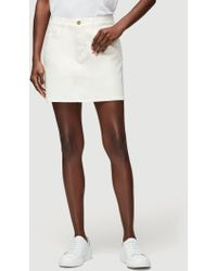 FRAME Coated Le Mini Skirt - White