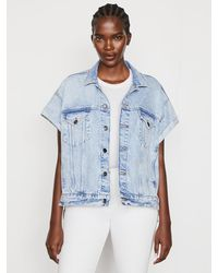 FRAME Short Sleeve Stagger Jacket - Blue