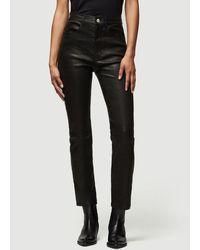 FRAME Leather Le Sylvie Slender Straight - Black