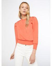 FRAME Shirred Sweatshirt - Orange