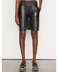 FRAME Leather Gym Short - Black