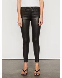FRAME Le Skinny De Jeanne Leather Pant - Black