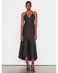 FRAME Lace Back Halter Dress - Black