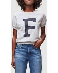 FRAME - Varsity Short Sleeve Sweatshirt - Lyst