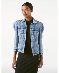 FRAME Rosette Sleeve Jacket - Blue