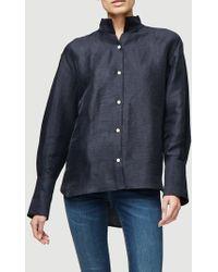 FRAME Clean Collared Shirt - Blue