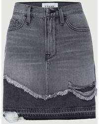 FRAME Le Mini Skirt Released Hem - Multicolour