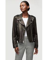 FRAME Pch Leather Jacket - Black