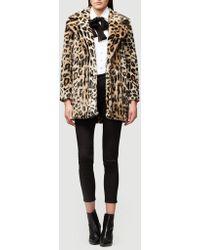 FRAME - Cheetah-print Faux-fur Coat - Lyst