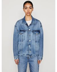FRAME Le Oversized Jacket - Blue