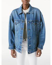 FRAME Heritage Oversized Jacket - Blue