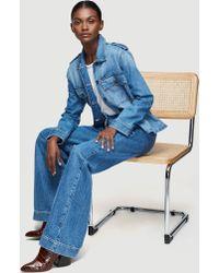 FRAME Service Shirt Jacket - Blue