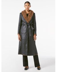 FRAME Shearling Leather Trench - Multicolour