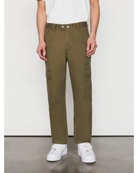 FRAME Twill Cargo Trousers - Green